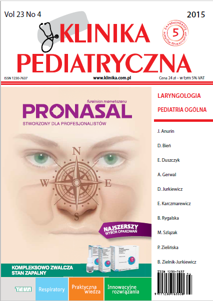 KP 2015/04 - Laryngologia, Pediatria Ogólna