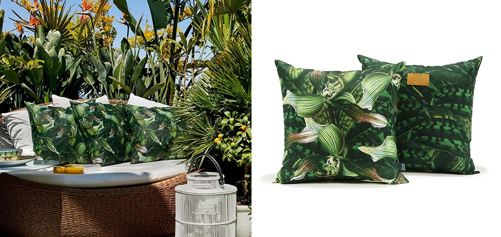 Decorative garden pillow