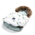 ASPEN WINTERPROOF STROLLER BAG COMBO - HERON IN CREAM LOTUS & SMOKE MINT