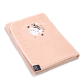 RĘCZNIK BAMBOO SOFT - NEWBORN - BY WHATANNAWEARS - POWDER PINK - FLY ME TO THE MOON NUDE