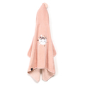 RĘCZNIK BAMBOO SOFT - KID - BY WHATANNAWEARS - POWDER PINK - FLY ME TO THE MOON NUDE