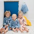 SZLAFROK BAMBOO SOFT - SMALL - DUSTY BLUE - UNIVERSE OF UNICORN BLUE