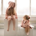 SZLAFROK BAMBOO SOFT - LARGE - BY WHATANNAWEARS - POWDER PINK - FLY ME TO THE MOON NUDE