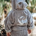 SZLAFROK BAMBOO SOFT - LARGE - BY WHATANNAWEARS - GREY - FLY ME TO THE MOON SKY