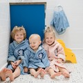 SZLAFROK BAMBOO SOFT - LARGE - DUSTY BLUE - UNIVERSE OF UNICORN BLUE