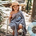 RĘCZNIK BAMBOO SOFT - KID - BY WHATANNAWEARS - GREY - FLY ME TO THE MOON SKY