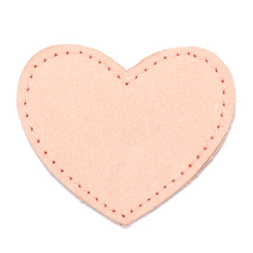 MOONIE'S FIRST CHARM - HEART - CANDY PINK