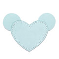 MOONIE'S FIRST CHARM - MOUSIE HEART - TURQUOISE DUST