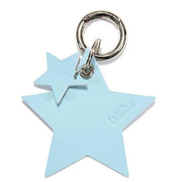 BRELOK LOCO LEATHER - STAR - SKY