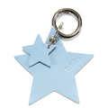 BRELOK LOCO LEATHER - STAR - BLUE PEARL