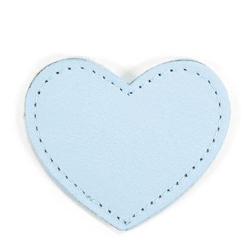 MOONIE'S FIRST STEP CHARM - HEART - CLOUDY BLUE