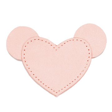 MOONIE'S FIRST STEP CHARM - MOUSIE HEART - CANDY PINK
