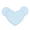MOONIE'S FIRST STEP CHARM - MOUSIE HEART - CLOUDY BLUE