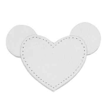 MOONIE'S FIRST STEP CHARM - MOUSIE HEART - MOON GRAY