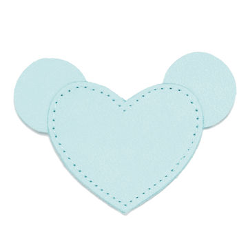 MOONIE'S FIRST STEP CHARM - MOUSIE HEART - TURQUOISE DUST