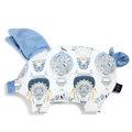 VELVET COLLECTION - PODUSIA SLEEPY PIG - CAPPADOCIA SKY - DOVE BLUE