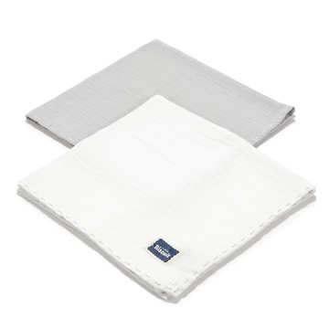 BISCUIT COLLECTION - 2 PACK PIELUSZKA 100% COTTON MUSLIN - STONE & OFF WHITE