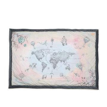 WORLD ORCHESTRA - KOC, NARZUTA 140 X 200 CM VANILA SKY - DARK GREY