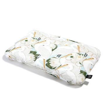 BED PILLOW - 40x60cm - HERON IN CREAM LOTUS