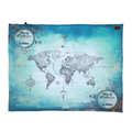 KOC PICNIC BASIC - WORLD ORCHESTRA - TRUE TURQUOISE VINTAGE MAP