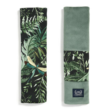 ORGANIC JERSEY COLLECTION - SEATBELT COVER - BOTANICAL - VELVET KHAKI