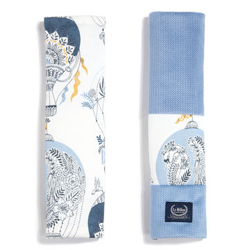 ORGANIC JERSEY COLLECTION - SEATBELT COVER - CAPPADOCIA SKY - VELVET DOVE BLUE