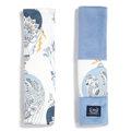 ORGANIC JERSEY COLLECTION - SEATBELT COVER - CAPPADOCIA SKY - VELVET DOVE BLUE