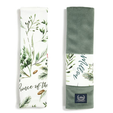 ORGANIC JERSEY COLLECTION - SEATBELT COVER - FOREST - VELVET KHAKI