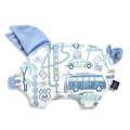 VELVET COLLECTION - PODUSIA SLEEPY PIG - ROUTE 66 COLOUR - DOVE BLUE