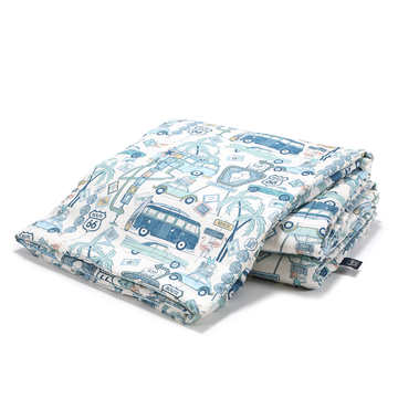 BAMBOO BEDDING ADULT - ROUTE 66 COLOUR