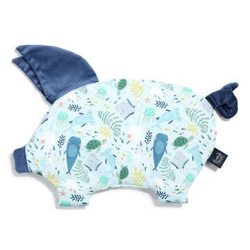 VELVET COLLECTION - PODUSIA SLEEPY PIG - DEEP BLUE - HARVARD BLUE