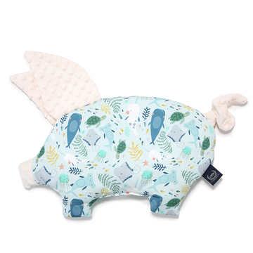 PODUSIA SLEEPY PIG - DEEP BLUE - ECRU