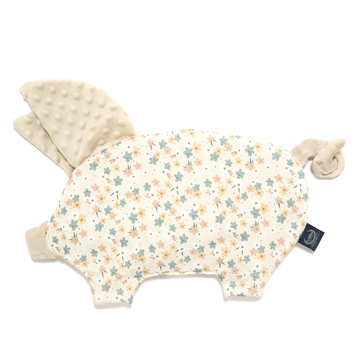 PODUSIA SLEEPY PIG - PRETTY FLORAL - SAND