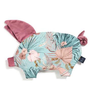 VELVET COLLECTION - PODUSIA SLEEPY PIG - BOHO PALMS - MULBERRY