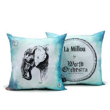 PODUSZKA OGRODOWA - WORLD ORCHESTRA - TRUE TURQUOISE ELEPHANT (Z DROBNĄ SKAZĄ)