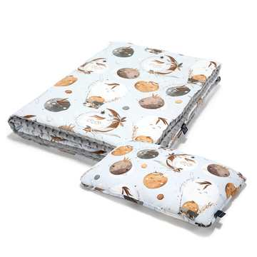 KID KIT: KOCYK I BED PILLOW - BY WHATANNAWEARS – FLY ME TO THE MOON SKY - GREY