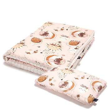 KID KIT: KOCYK I BED PILLOW - BY WHATANNAWEARS – FLY ME TO THE MOON NUDE - ECRU