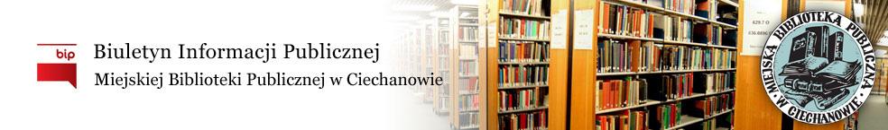 Baner Miejska Biblioteka Publiczna w Ciechanowie, BIP