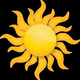 grafika słońce