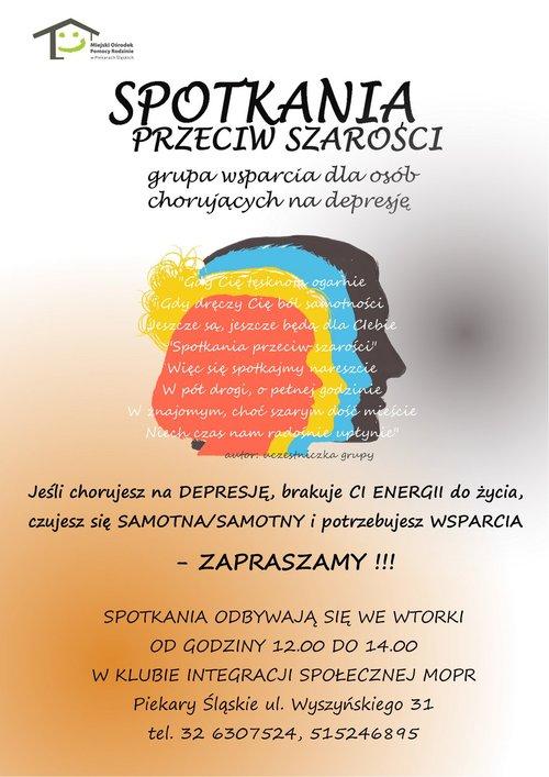 Plakat Spotkania przeciw szarości