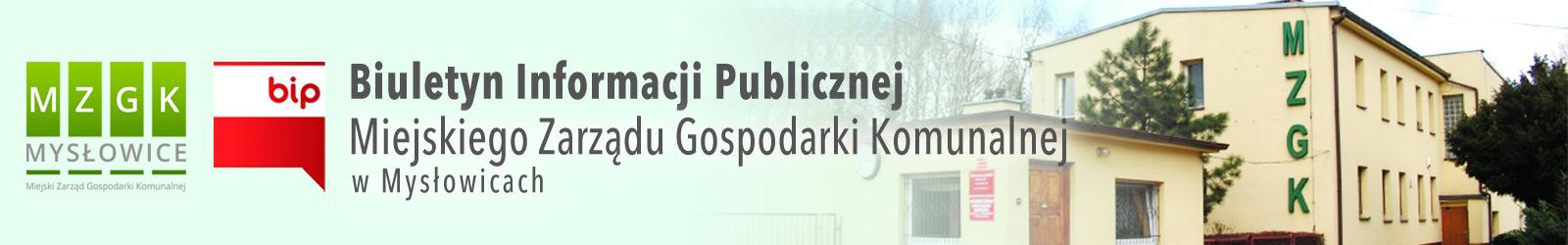 BIP Miejskiego Zarządu Gospodarki Komunalnej w Mysłowicach