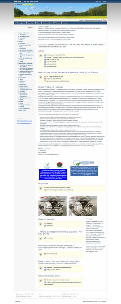 Buletyn Informacji Publicznej Gminy Domanice