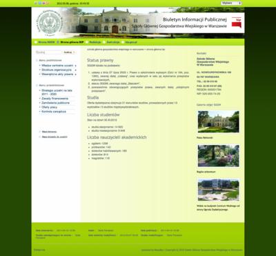 BIP Szkoły Głównej Gospodarstwa Wiejskiego w Warszawie