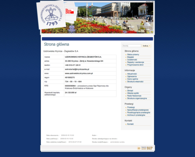 BIP Uzdrowiska Krynica - Żegiestów S.A