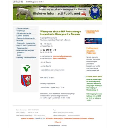 BIP Powiatowego Inspektoratu Weterynarii w Sławnie