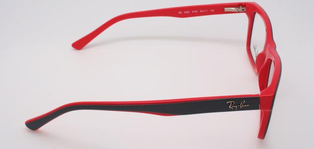 okulary ray ban czarno czerwone