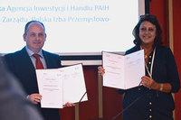 Wiceprezes PAIH Wojciech Fedko oraz prezes Stowarzyszenia Hanna Stypułkowska-Goutierre