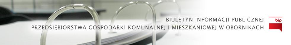 Baner PGKiM Sp. z o.o. w Obornikach