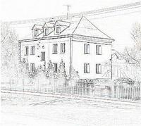 Szkic budynku Powiatowej inspekcji Weterynarii w Kole