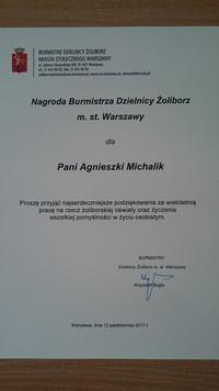 Nagroda Burmistrza Dzielnicy Żoliborz